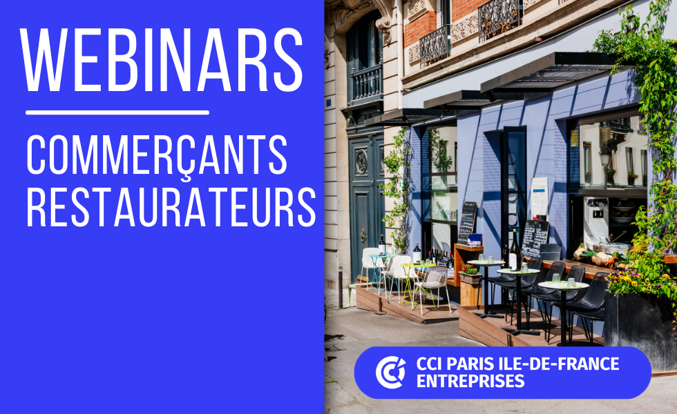 Webinars commerçants, cafés, restaurants