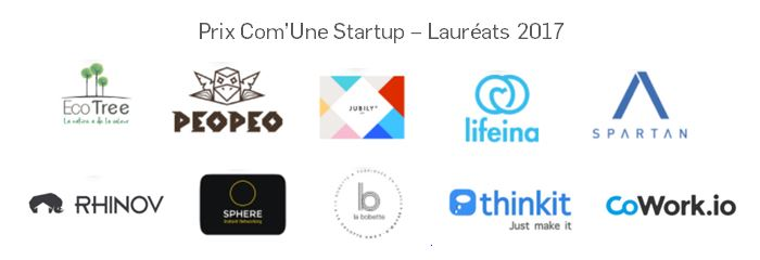 Les lauréats du prix Com'Une Startup 2017