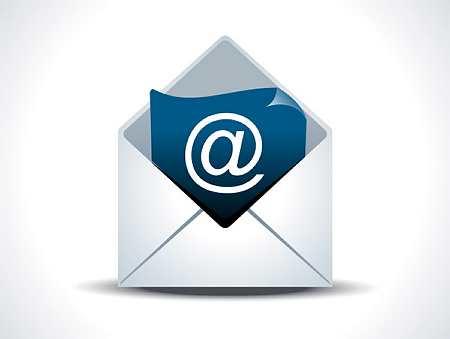 Illustration d'un envoi par email